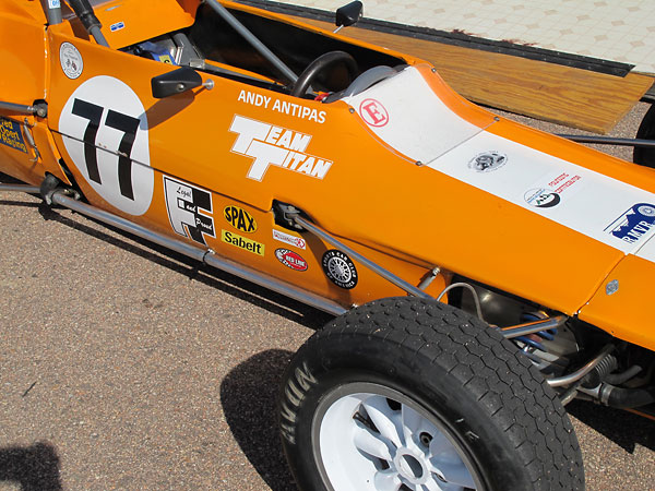 Homage to the 1972 Team Titan semi-works racing team of Derek Lawrence and Ken Bailey.