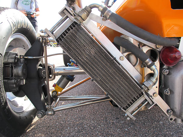 Mocal 10-row aluminum oil cooler.