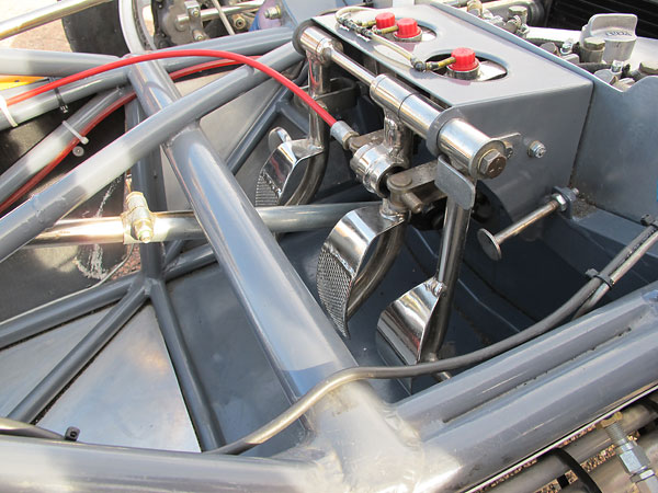 Throttle pedal mounting features positive stops for both forward and extent of travel.