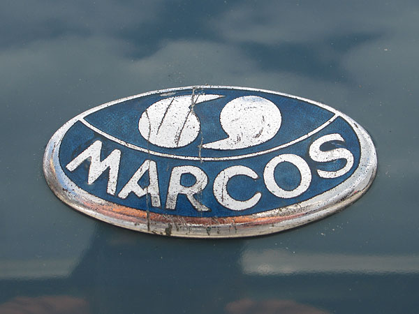 Marcos bonnet badge.