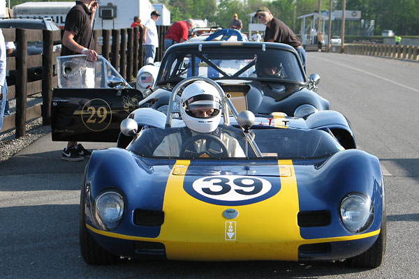 Bernard Bradpiece's 196X Elva MkVII Race Car, Number 39