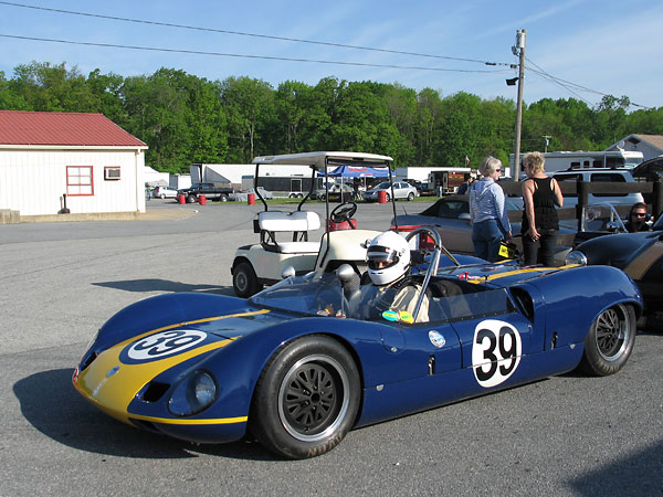 During 1965, at least fifteen different drivers entered Elva Mk7/7S racecars in National SCCA events.