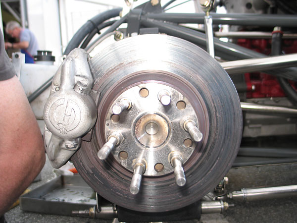 Girling D12R (or D14R, depending on bore size) aluminum calipers, used with solid rotors.