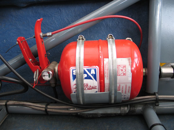 S.P.A. Fire Fighter centralized fire suppression system.