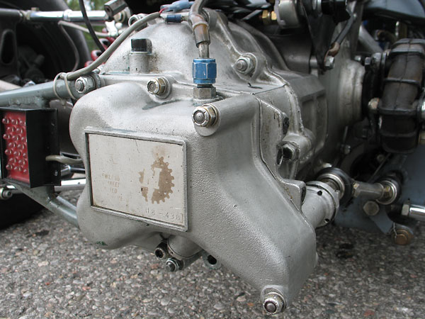 Hewland transaxle marked H8-438.