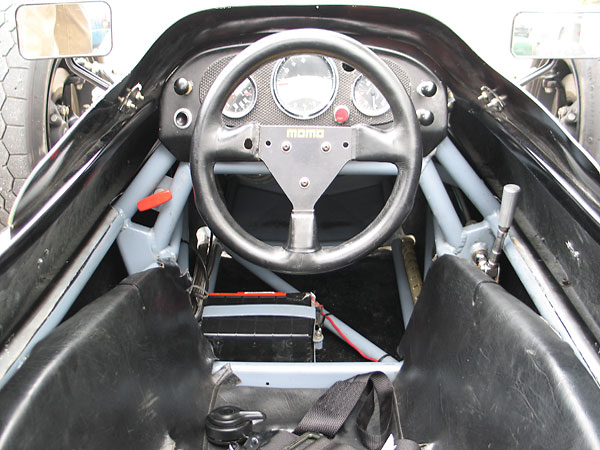 Momo ergonomic steering wheel.
