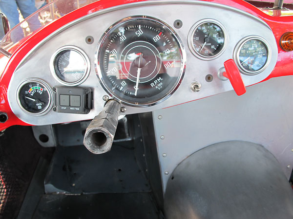 Jaeger tachometer, in combination with a set of Stewart Warner gauges.