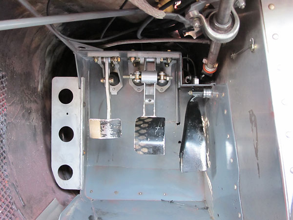 Dual brake master cylinders with adjustable bias bar.
