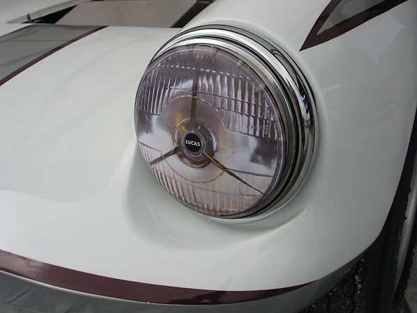 Lucas headlight decal.