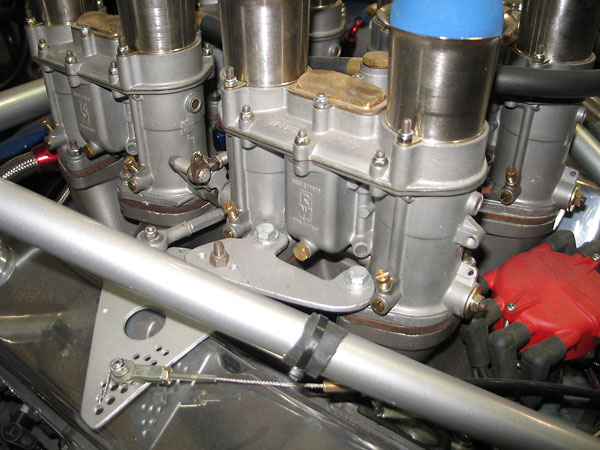 The throttle linkage is original to the car.