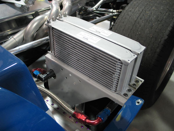 Twin 16-row Mocal oil coolers for engine oil