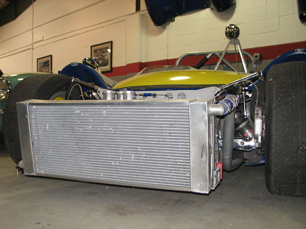 really large aluminum crossflow radiator