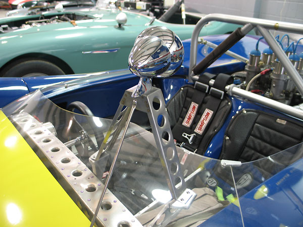 Penske Racing utilized tall, fabricated tripod mirror mounts and bullet style mirrors