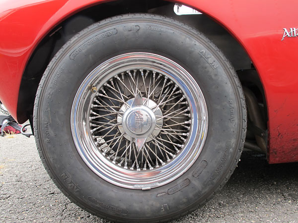 Dayton 72-spoke cross-laced wire wheels.