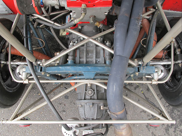 This Chevron B21 still uses its original anti-sway bars, both front and rear.