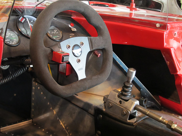 During a 4hr endurance race at Daytona, the original Chevron shifter lever broke clean off.