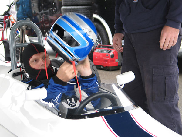 Brad Baker finished third in class and sixth overall in the Group 2 feature race of the 2009 U.S. Vintage Grand Prix at Watkins Glen.