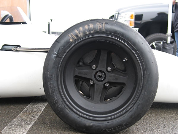 Brabham magnesium racing wheels (13x10 front and 13x12 rear.)