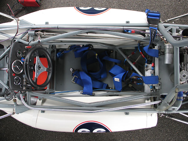 Full length steel floorpans add significantly to the car's strength.