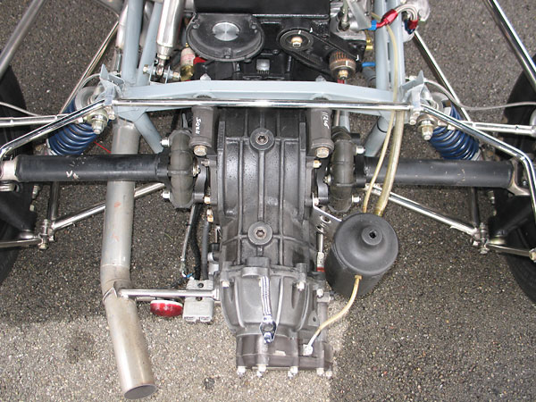 Transaxle mounting features.