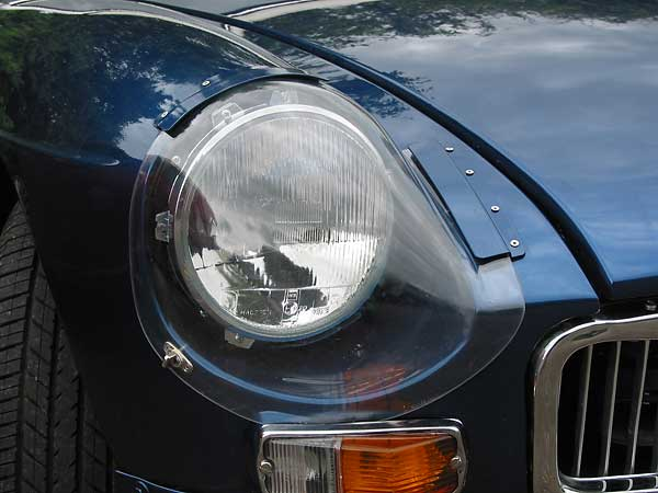 Sebring-style perspex headlight covers and lightweight aluminum bonnet