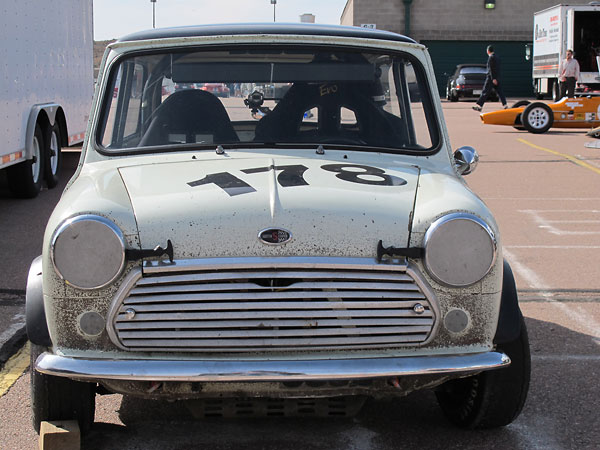 Mini Cooper S MkII front grille, specially mounted on two studs for easy removal.