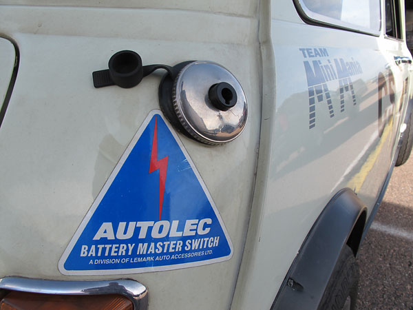 Autolec FIA-approved battery master switch.