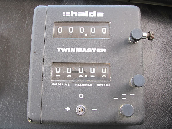 Halda Twinmaster is a precision mechanical odometer that reads to 1/100th of a mile (or kilometer).
