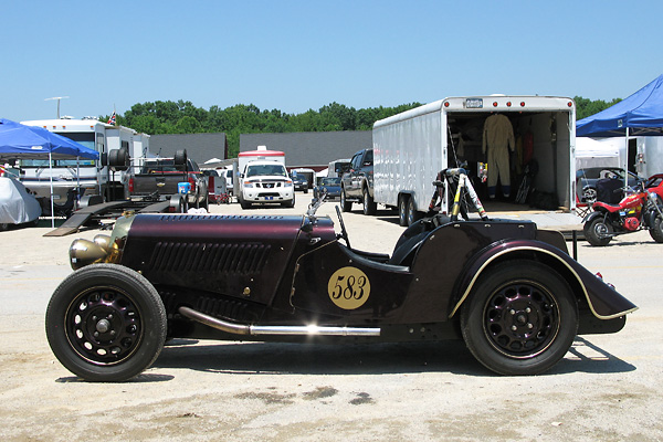 Carlton Shriver's Morgan 4/4 Race Car, Number 583