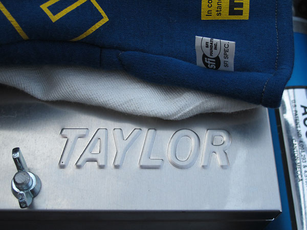 Taylor aluminum battery box.