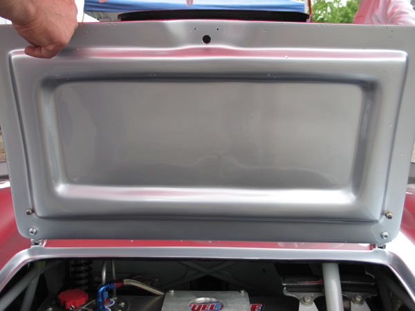 The boot lid opens neatly, but the whole rear section of the body is easily removeable for chassis access.