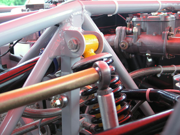 Front and rear anti-sway bars were custom designed and made by CC Motorsports.