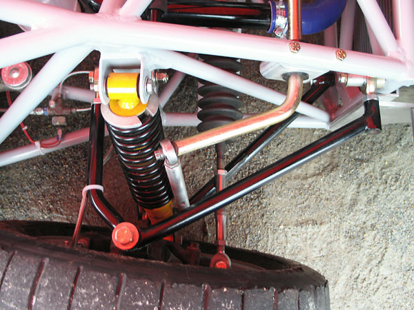 Spax adjustable coilover shock absorbers.