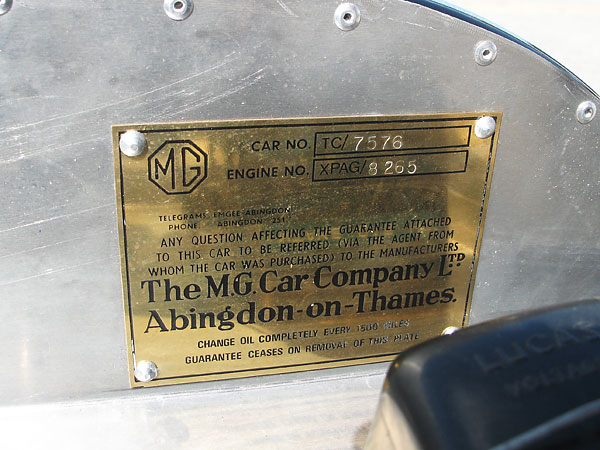 The M.G. Car Company Ltd., Abingdon-on-Thames