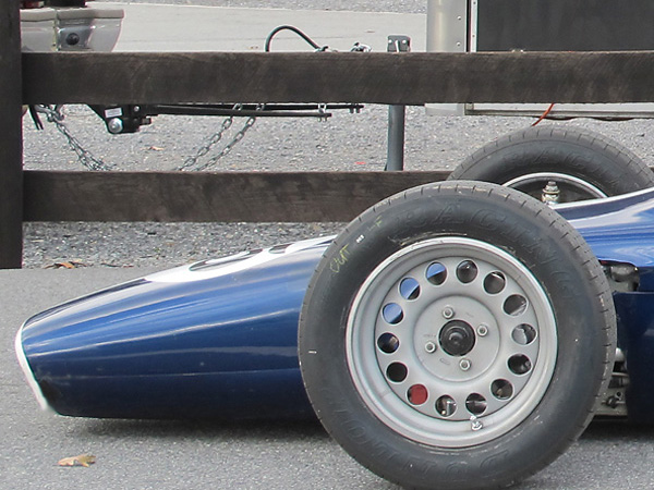 Steel disc wheels, as traditionally required by Formula Ford class rules.