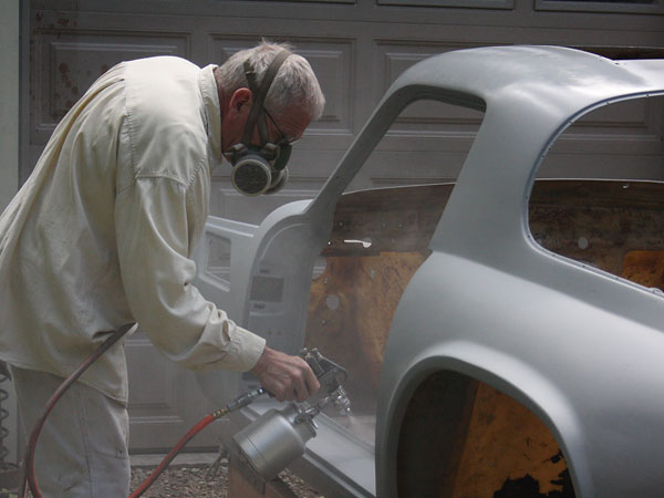 The old-school way: four coats of lacquer primer, wet-sanded after each coat.
