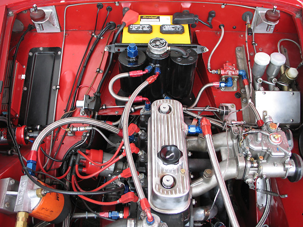 Midwest Motorsports built the cylinder head	and provided the custom camshaft and pistons.