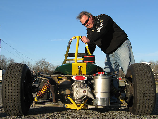 Dick Leehr has enjoyed racing his Lotus 51c for ten years. He also owns and races a lovely Lotus 41.