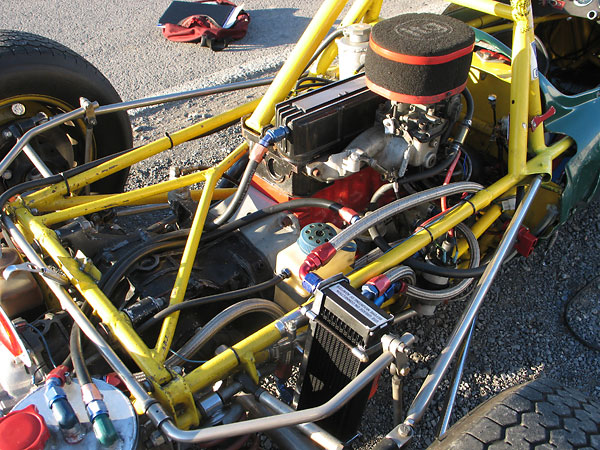 like many racecar builders of their era arch motors brazed frame joints instead of fusion