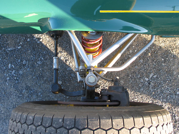 Original Lotus 51's came with rather soft suspension springs (front: ~100#/in, rear: ~175#/in).