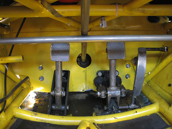 Most formula cars have aluminum floor pans, but the original undertray on the Lotus 51 was steel.