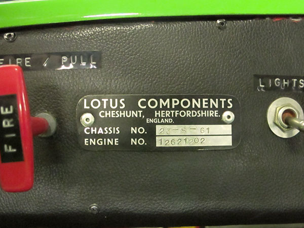 Lotus 69B chassis number 23-S-61.