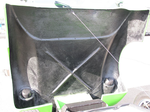 The bottom side of the Lotus 23B bonnet, including molded-in stiffeners.