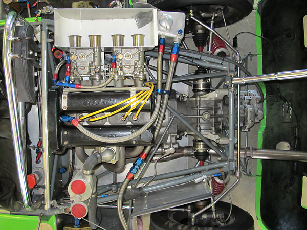 MWE-built 1600cc Lotus Twin Cam engine with less than six hours of use.