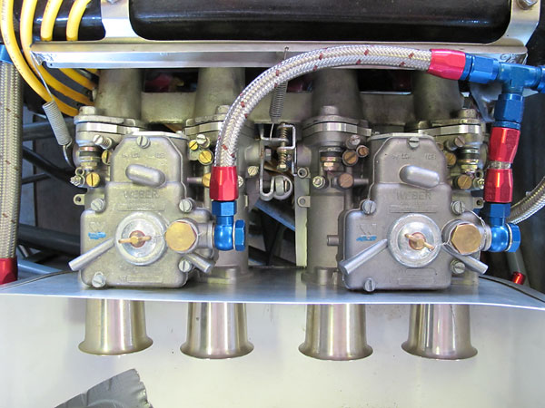 Dual Weber 45DCOE carburetors.