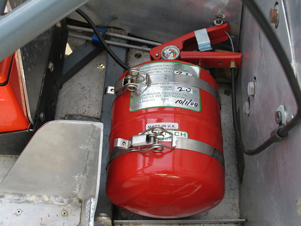 RaceTech centralized fire suppression system.