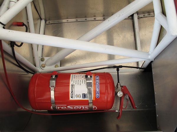SPA Firesense AFFF (15 pound, 2 liter) centralized fire suppression system.