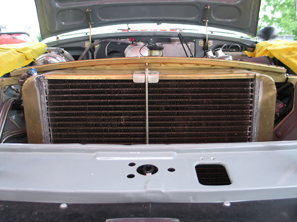 Large brass radiators were a Huffaker trademark.
