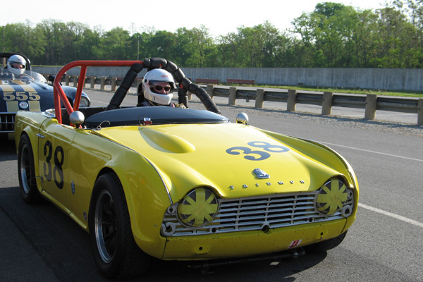 George Wright's 1961 Triumph TR4 Race Car, Number 61