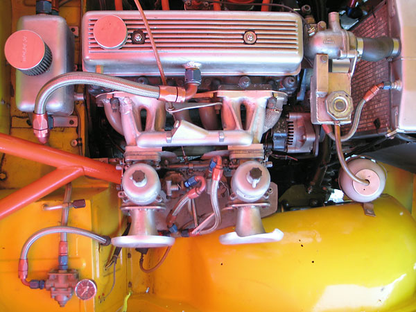 Dual S.U. HS6 carburetors.